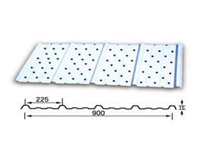 冲空吸音型彩钢板-冲孔吸音彩钢板